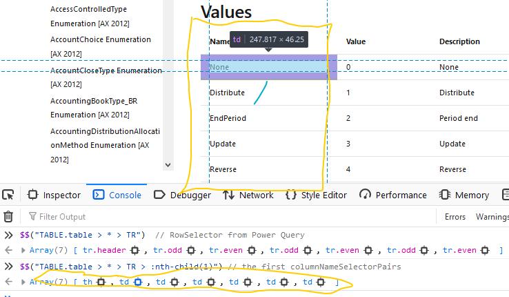 CSS Column Selector